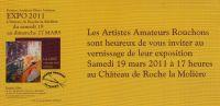 Exposition au château de Roche la Molière 2011